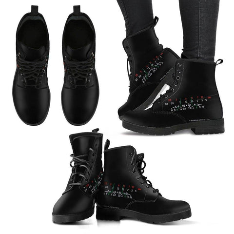 Image of Women Photographer Premium Eco Leather Boots Women's Leather Boots - Black - Focal Length Black US5 (EU35)