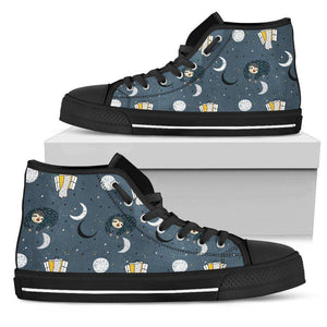 Premium Sleeping Sloth Shoes | High and Low Top Available Shoes Womens High Top - Black - WBH US5.5 (EU36)