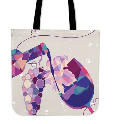 Wine Bottle and Glass Tote | Perfect For Wine Lovers Tote Bag Wine Tote 1