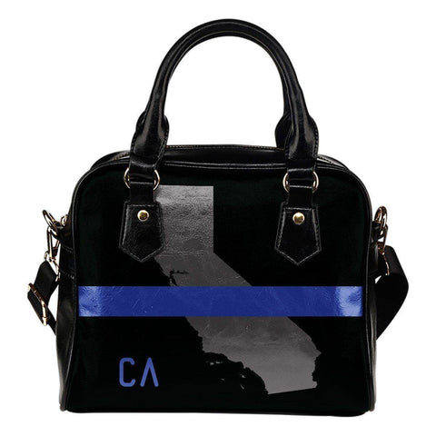 Premium Thin Blue Line Hand Bag Thin Blue Line California Map