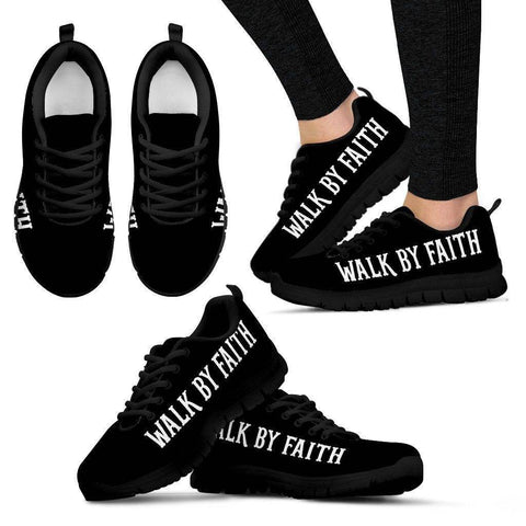 Walk by Faith Women's Sneakers - Black - w US5 (EU35)