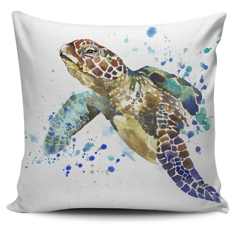 Image of Awesome Turtle Art Pillow Covers Pillow Case Turtle 1