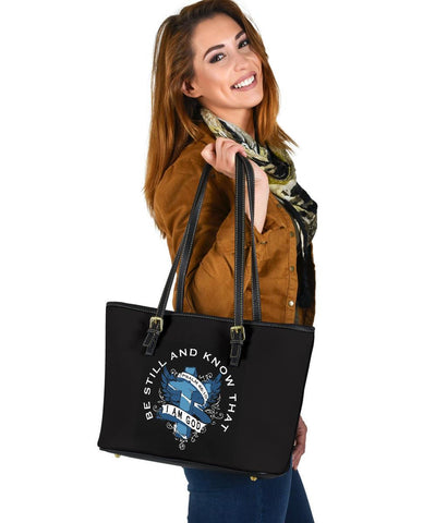 Image of Be Still and Know That I Am God, Vegan Leather Tote Bags