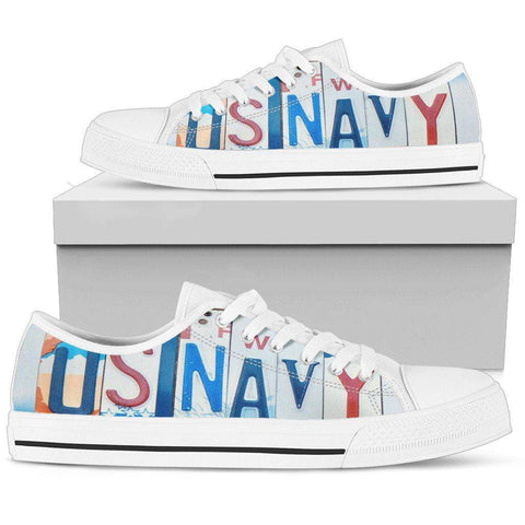 Image of US Navy | Premium Low Top Shoes Shoes Womens Low Top - White - Womens White US5.5 (EU36)
