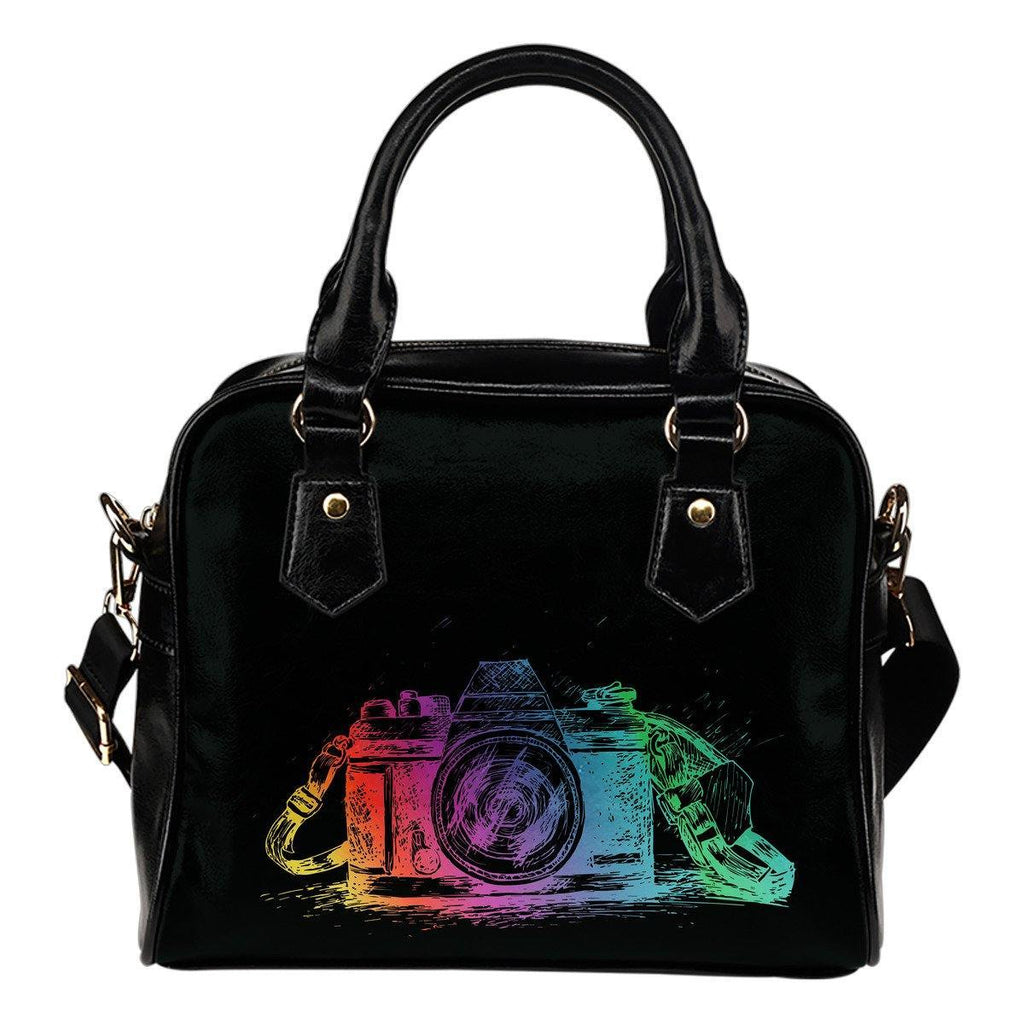 Shoulder Handbag with Colorful Camera