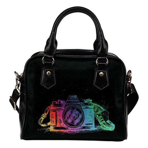 Image of Shoulder Handbag with Colorful Camera