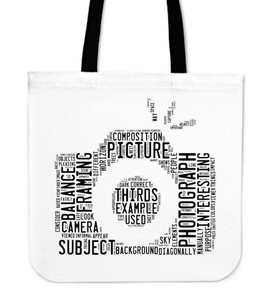 Custom Photographer Designs on Premium Totes Tote Bag Word Camera