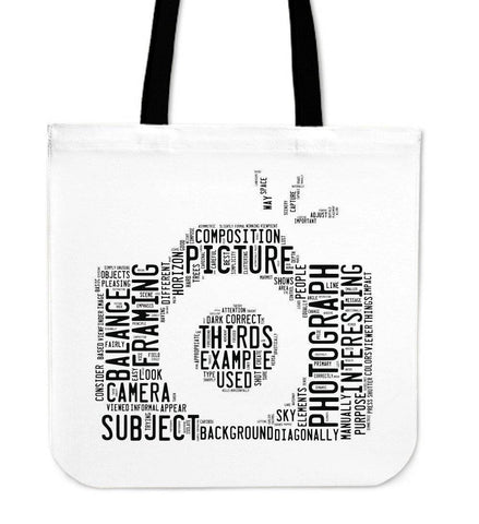 Image of Custom Photographer Designs on Premium Totes Tote Bag Word Camera