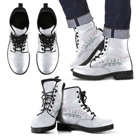 Image of Premium Mens Photographer Eco-Leather Boots Men's Leather Boots - Black - Focal Length White US5 (EU38)