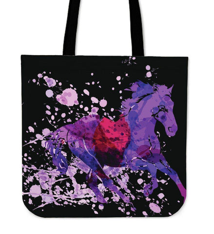 Image of Wild Horse Canvas Tote Wild Horse Black Right