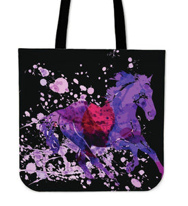Wild Horse Canvas Tote Wild Horse Black Right