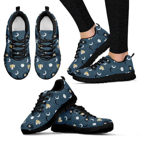 Sleeping Space Sloth Sneakers (Say that 5 times fast) Sneakers Women's Sneakers - Black - W Black US5 (EU35)
