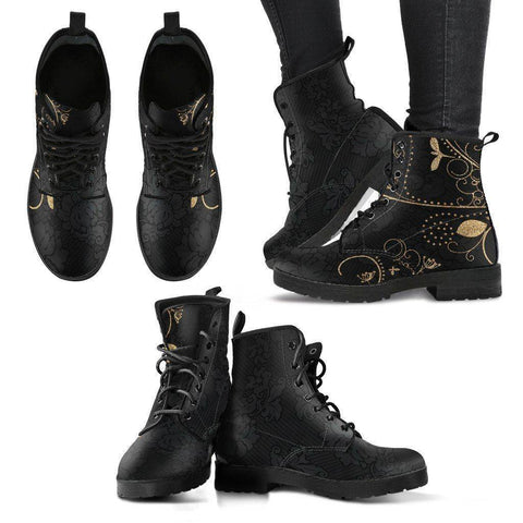 Gold Leaf Women's Leather Boots