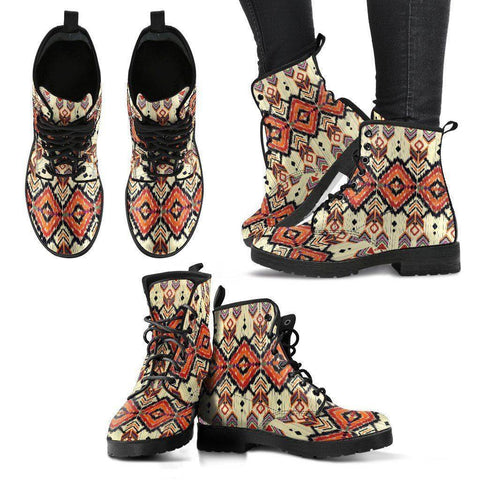 Native Pattern Handcrafted Boots Boots