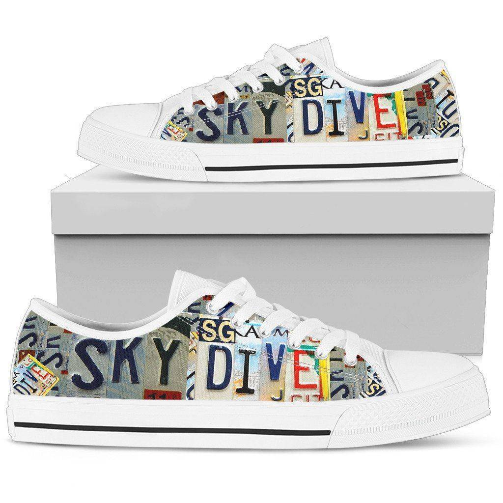 Sky Dive | Premium Low Top Shoe shoes Womens Low Top - White - White US5.5 (EU36)