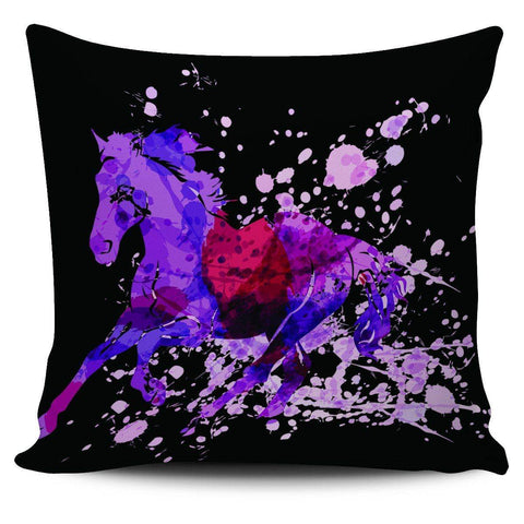 Wild Horse Pillow Covers Wild Horse Black