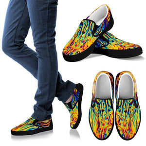 Oil Slick Slip Ons