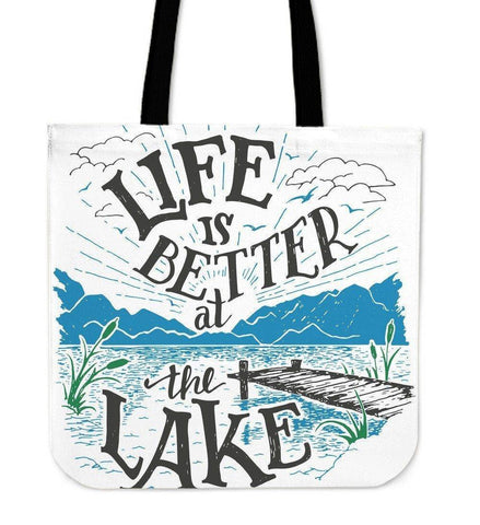 Life Is Better At The Lake | Premium Canvas Tote Bag Tote Bag