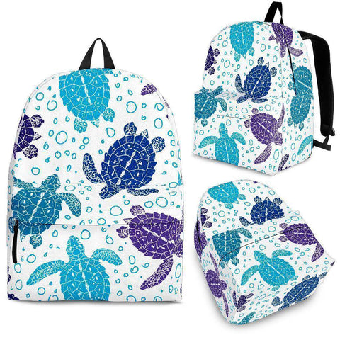 Groovy Sea Turtle Back Pack V.1 backpack Backpack - Black - Large Pattern Adult (Ages 13+)