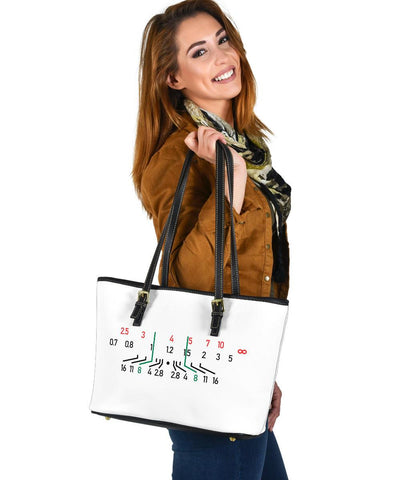 Image of Focal Length, Vegan Leather Tote, White Bags