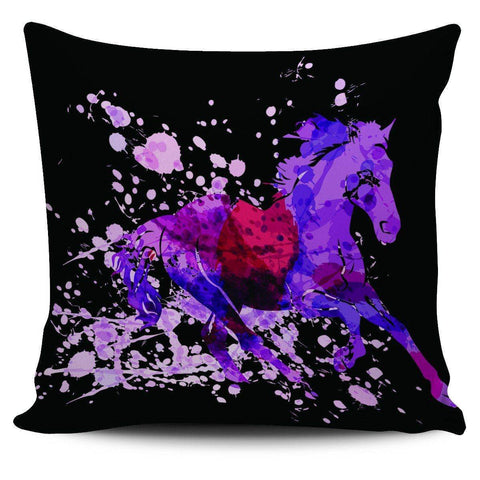 Wild Horse Pillow Covers Wild Horse Black 2