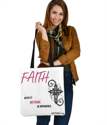 Image of Nothing Is Impossible, Matthew 17:20, Tote Tote Bag