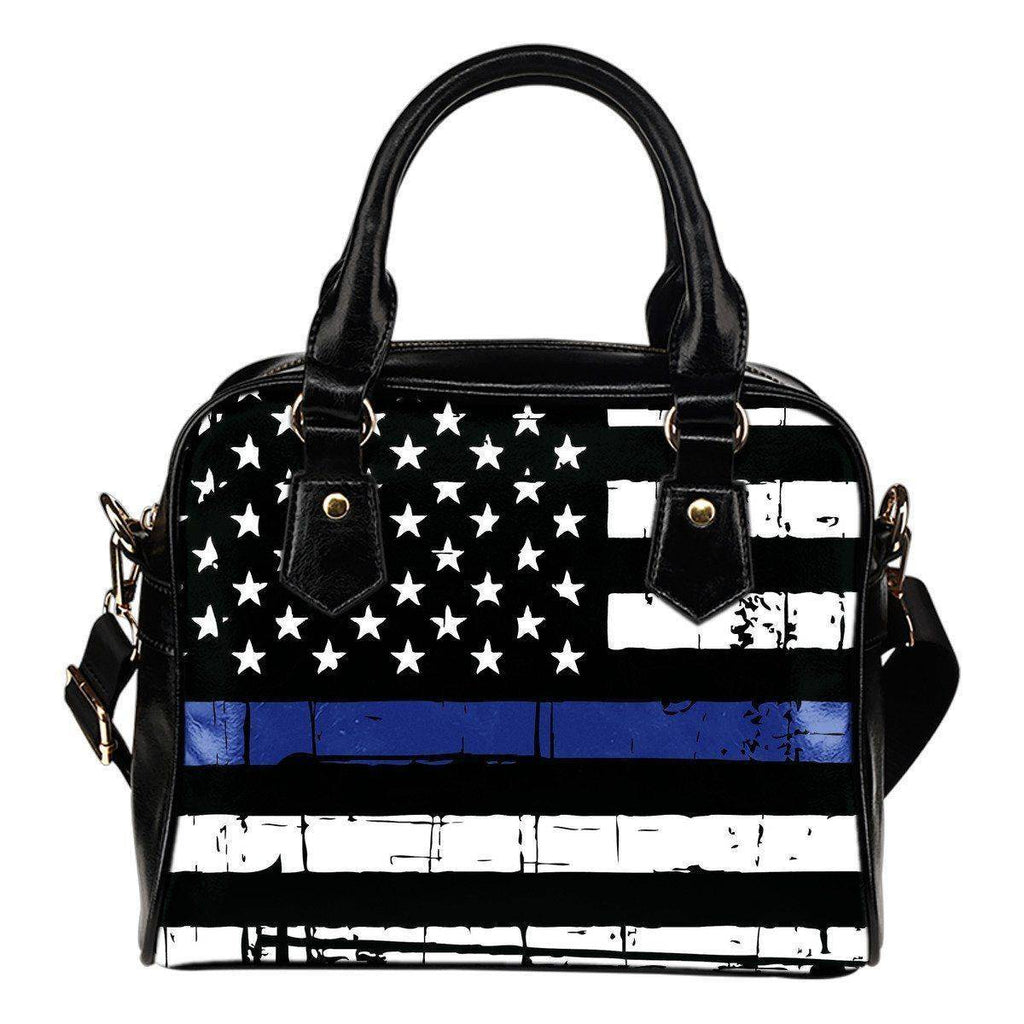 Premium Thin Blue Line Hand Bag Thin Blue Line US Flag