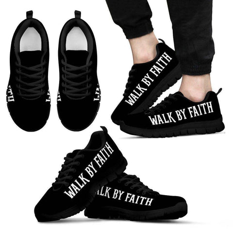 Walk by Faith Men's Sneakers - Black - m US5 (EU38)