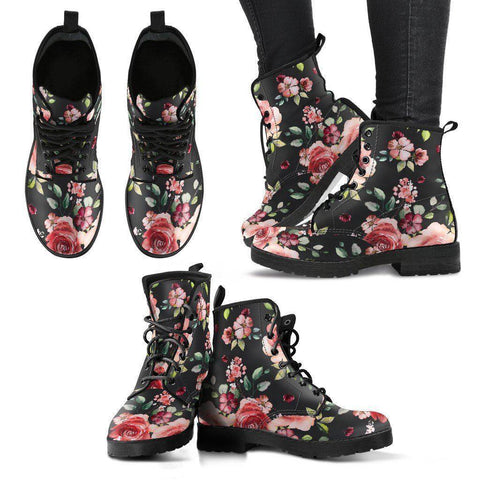 Handcrafted Floral Boots Boots