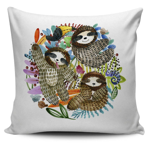 Image of Watercolor Sloth Pillow Cover Watercolor Sloth Pillow Cover