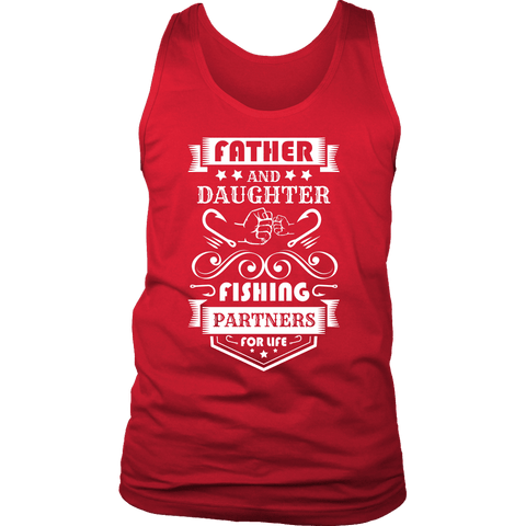 Image of Father and Daughter Fishing Partners T-shirt District Mens Tank Red S