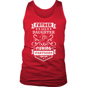 Father and Daughter Fishing Partners T-shirt District Mens Tank Red S
