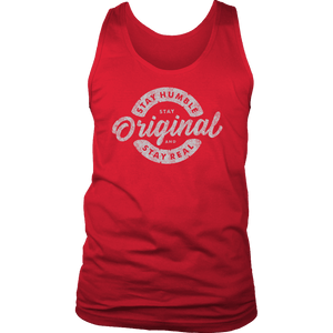 Stay Real, Stay Original Mens Shirts T-shirt District Mens Tank Red S
