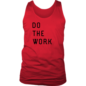 Do The Work | Mens | Black Print T-shirt District Mens Tank Red S