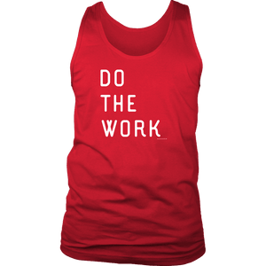 Do The Work | Mens | White Print T-shirt District Mens Tank Red S