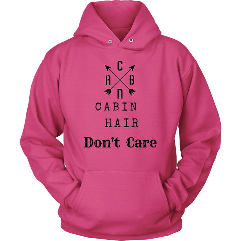 Image of CABN, Cabin Hair, Don't Care T-shirt Unisex Hoodie Sangria S
