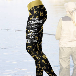 Real Grandmas Go Fishing Leggings