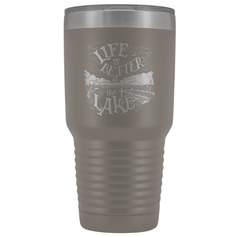 Image of Life is Better at the Lake | 30 oz. tumbler Tumblers Pewter