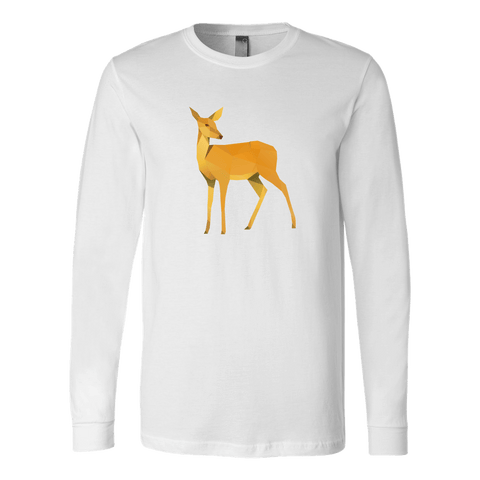 Polygonal Doe T-shirt Canvas Long Sleeve Shirt White S