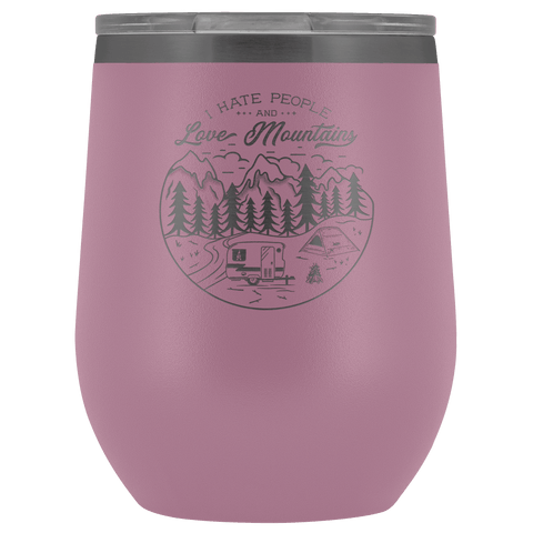 Image of Love The Mountains | Wine Tumbler Wine Tumbler Light Purple