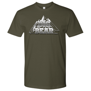 Big Bear V.2, Mens T-shirt Next Level Mens Shirt Military Green S