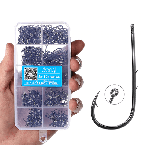 Image of 200 - 600pcs Bait Hooks | 1/2 inch Size 8 to 1.2 inch 1/0