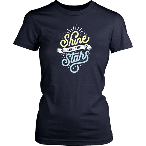 Shine Like The Stars T-shirt District Womens Shirt Navy XS