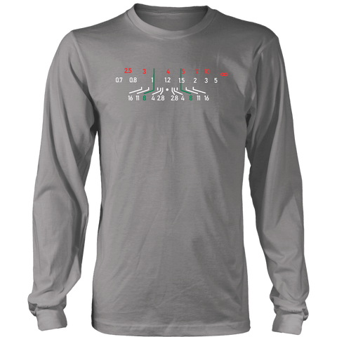 Image of Focal Length, District Shirts and Hoodies T-shirt District Long Sleeve Shirt Grey S