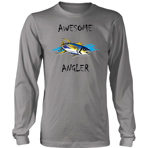 Image of You're An Awesome Angler | V.2 Chiller T-shirt District Long Sleeve Shirt Grey S