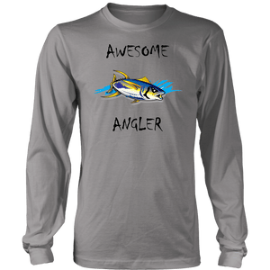 You're An Awesome Angler | V.2 Chiller T-shirt District Long Sleeve Shirt Grey S