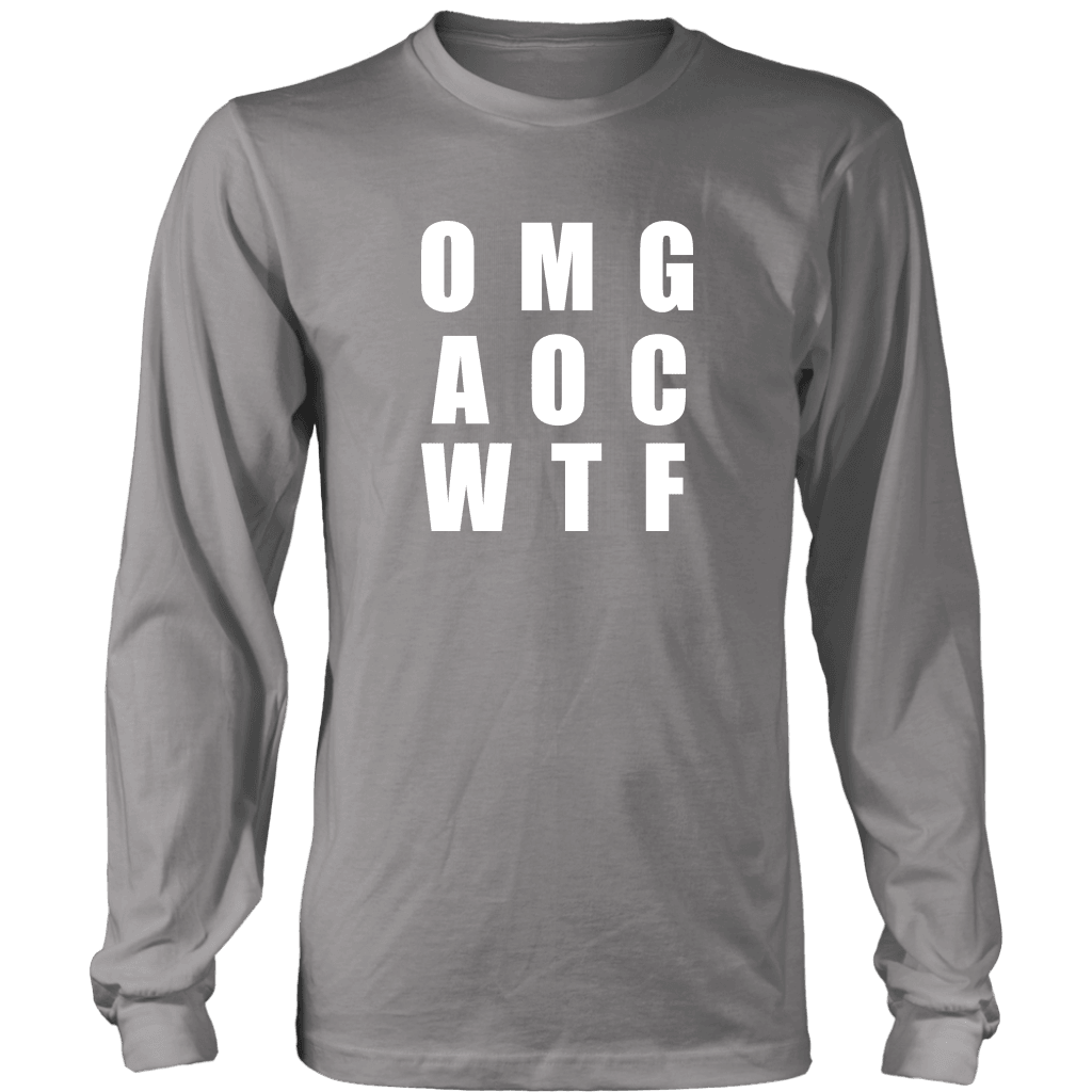 Well There you have it... T-shirt District Long Sleeve Shirt Grey S