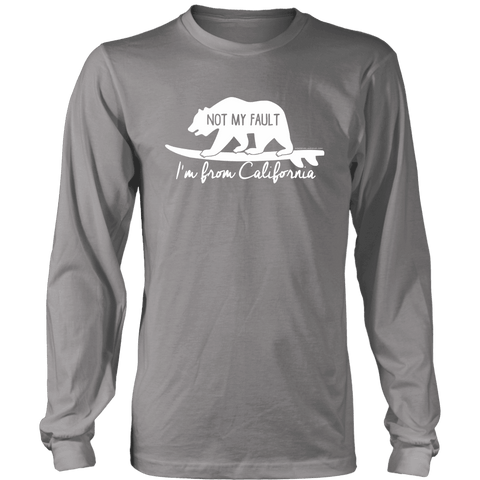 Image of From California T-shirt District Long Sleeve Shirt Grey S