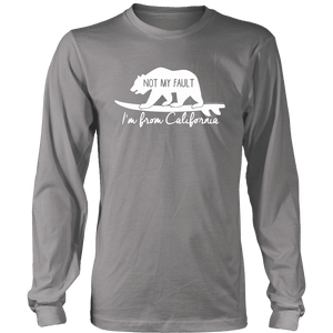 From California T-shirt District Long Sleeve Shirt Grey S
