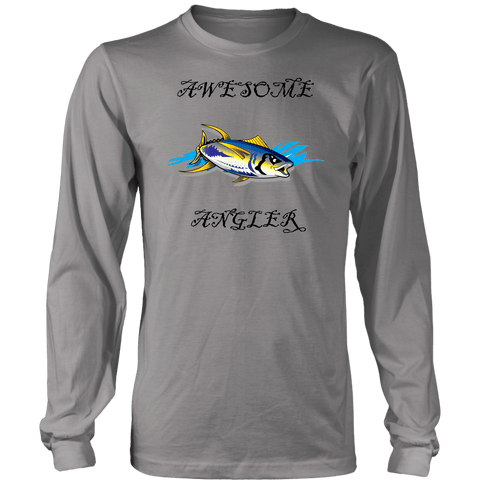 Image of You're An Awesome Angler | V.3 Pirate T-shirt District Long Sleeve Shirt Grey S